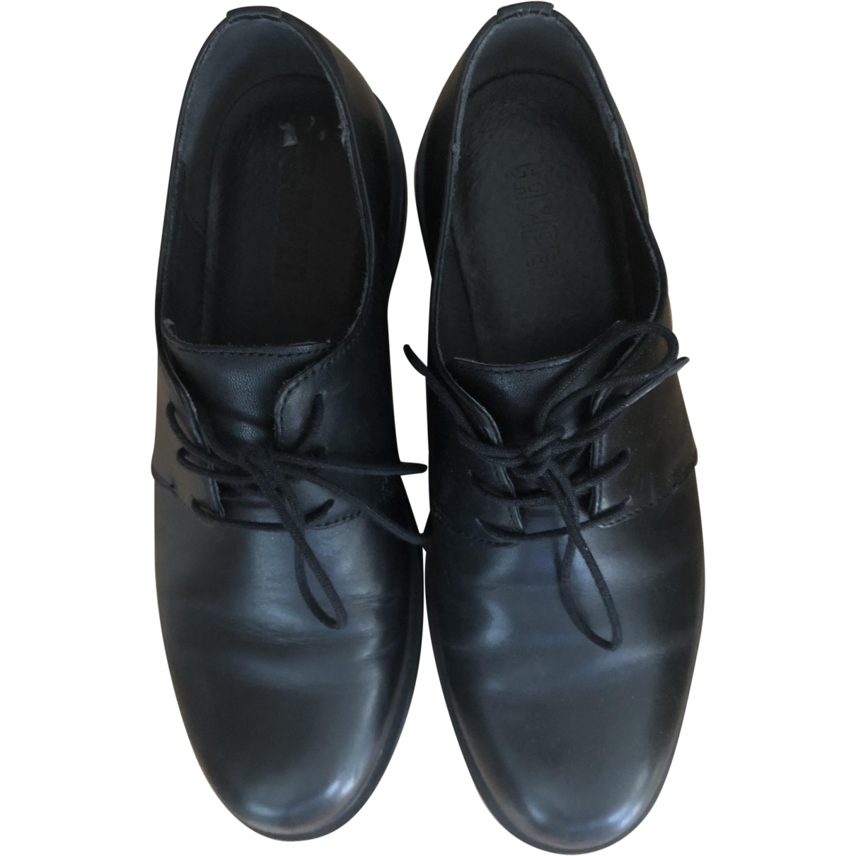Camper \N Black Leather Trainers for Women 38 EU