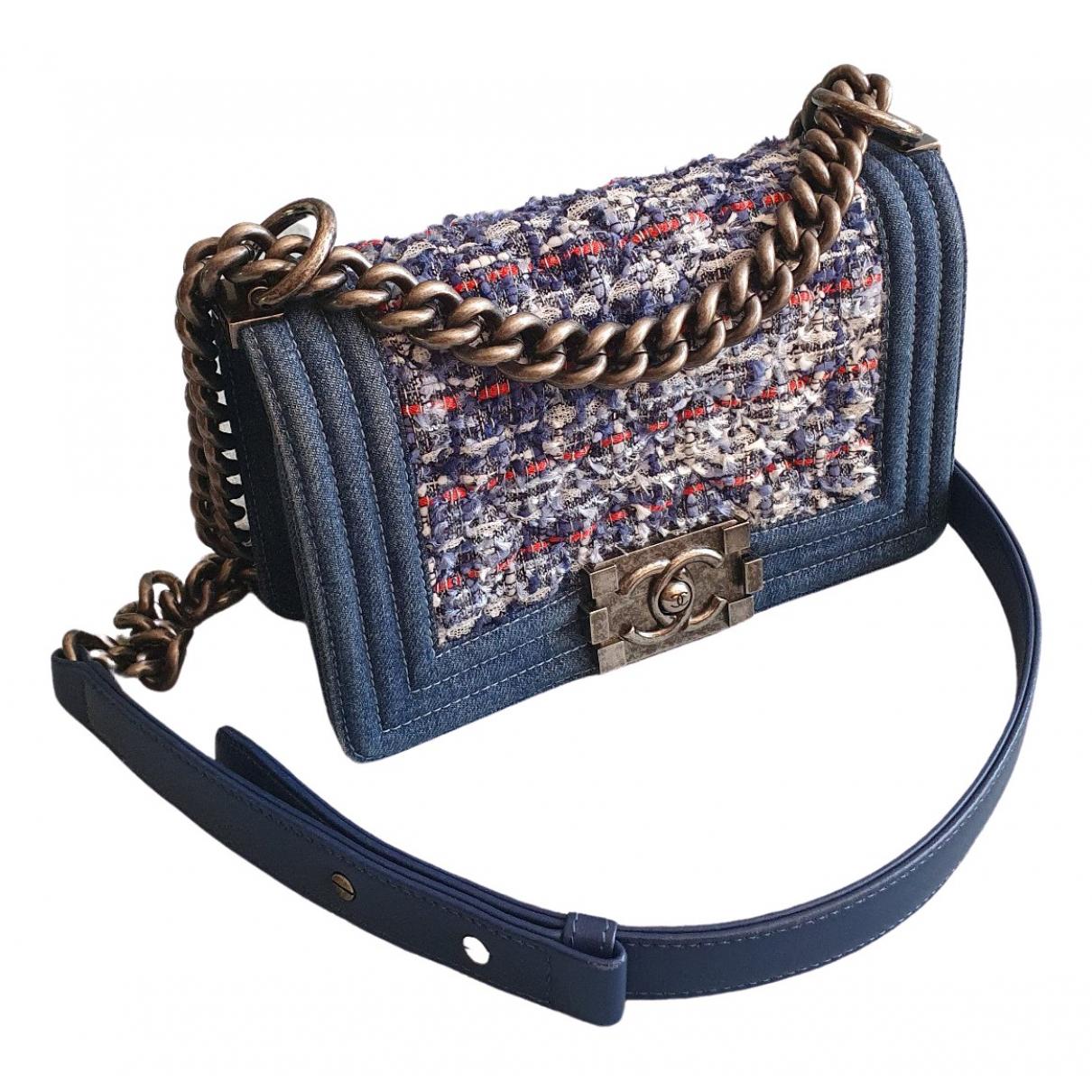 Chanel Boy Blue Denim - Jeans handbag for Women \N