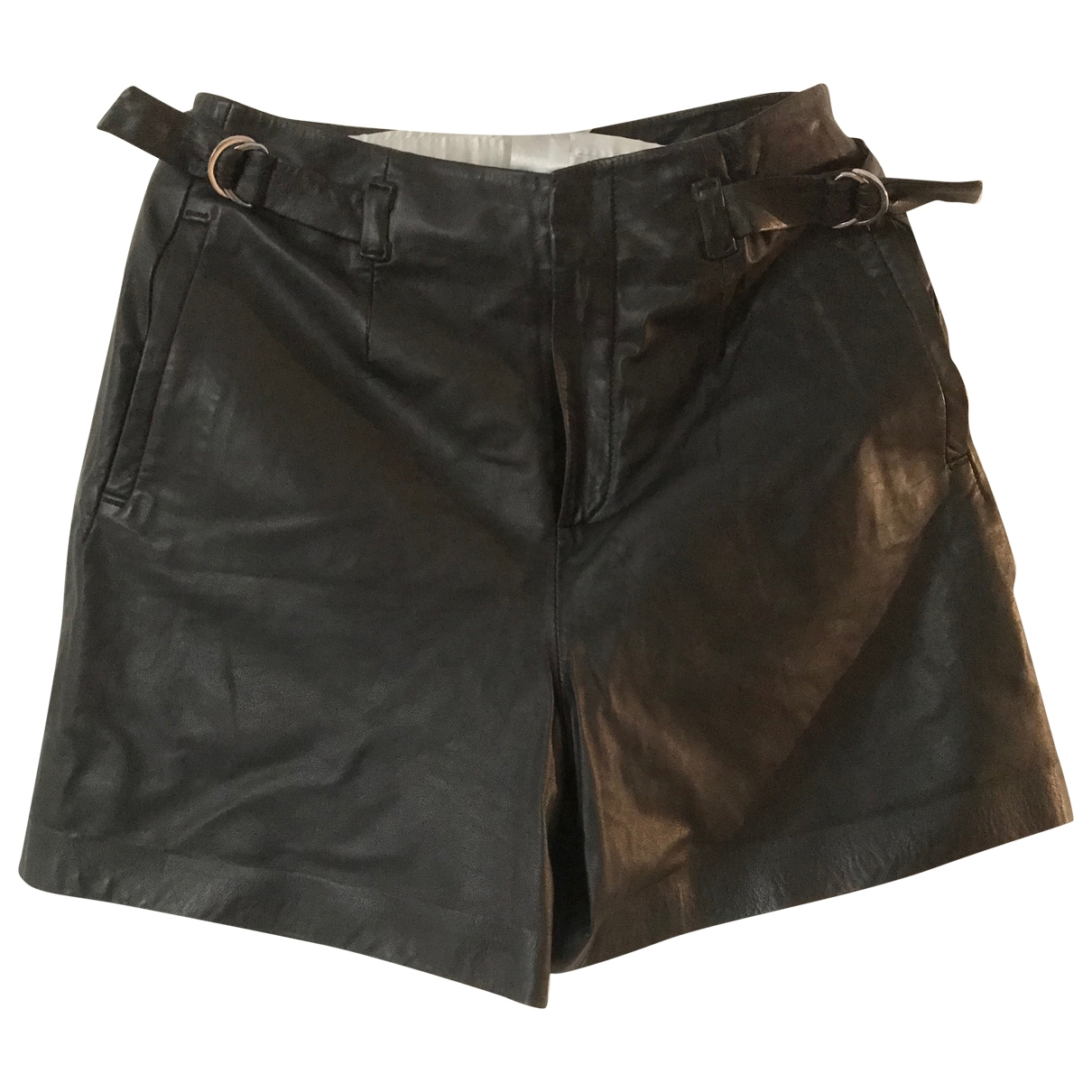 Set \N Black Leather Shorts for Women 34 FR