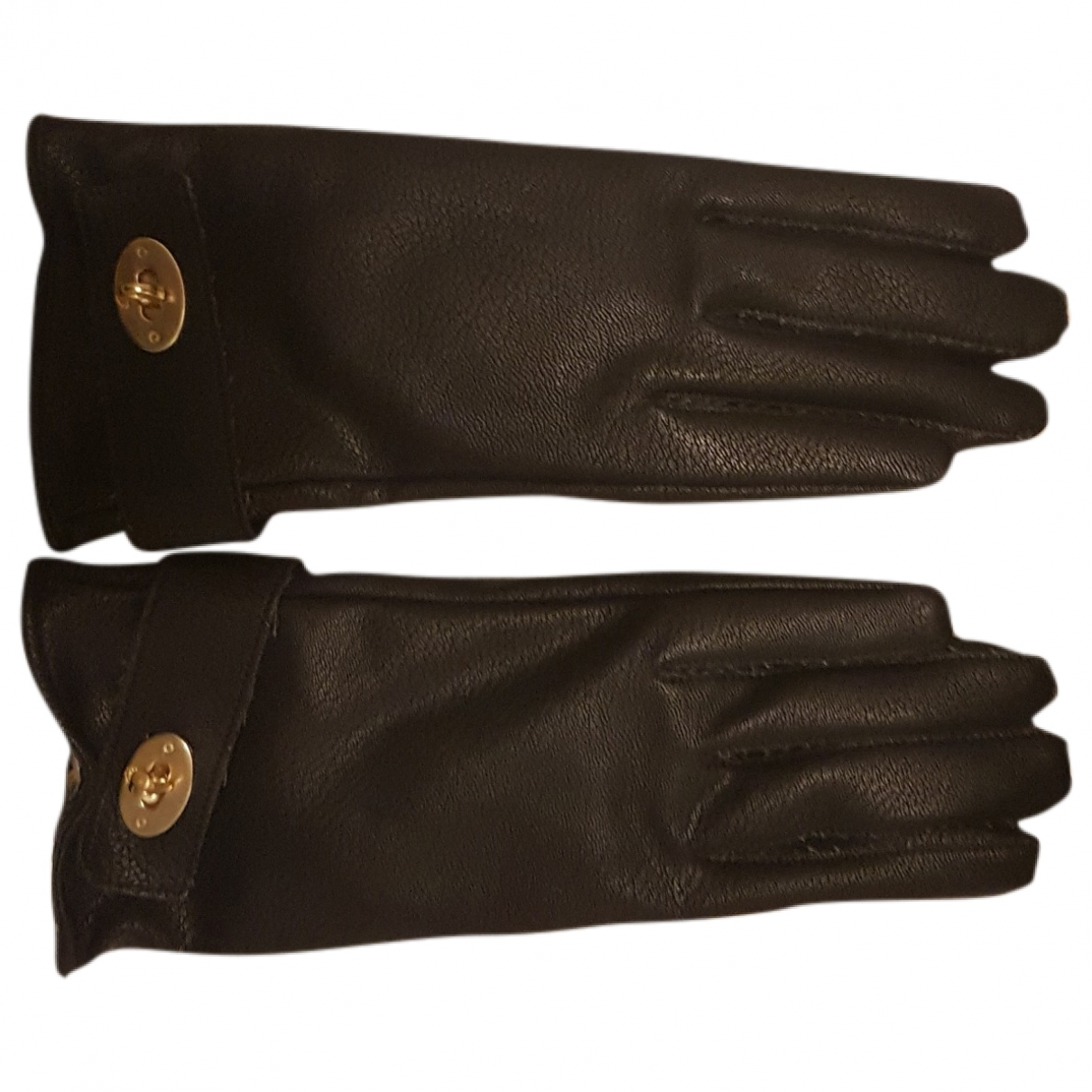 Mulberry \N Black Leather Gloves for Women S International