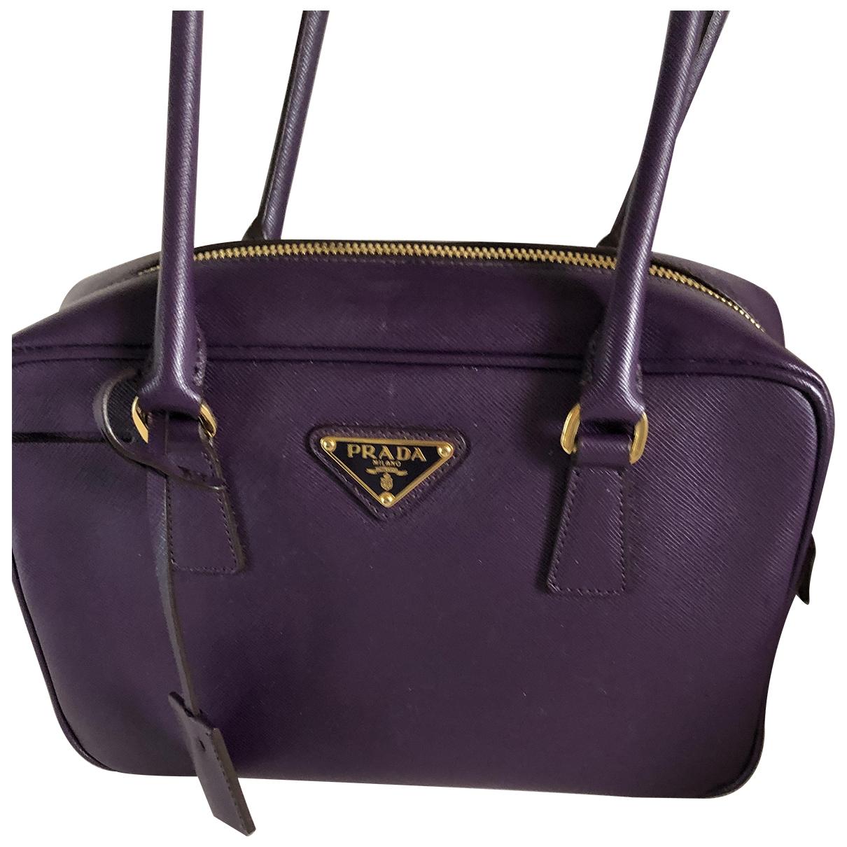 Prada \N Purple Leather handbag for Women \N