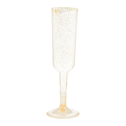 Thanksgiving Gold Glitter Champagne Flutes 4Pcs/Pack