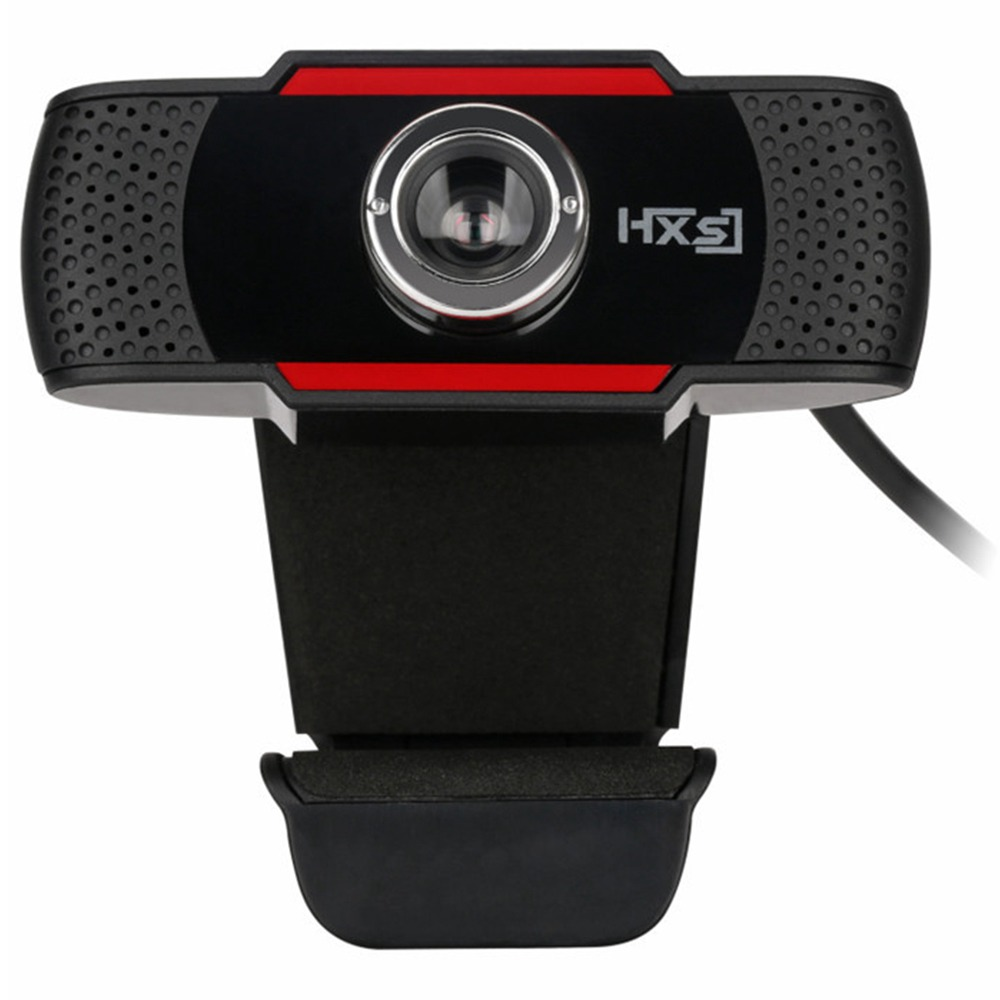 HXSJ S20 480P HD Webcam 12 Million Pixels Manually Focus Built-in Microphone Adjustable Angle For Desktop Computer Laptop - Black