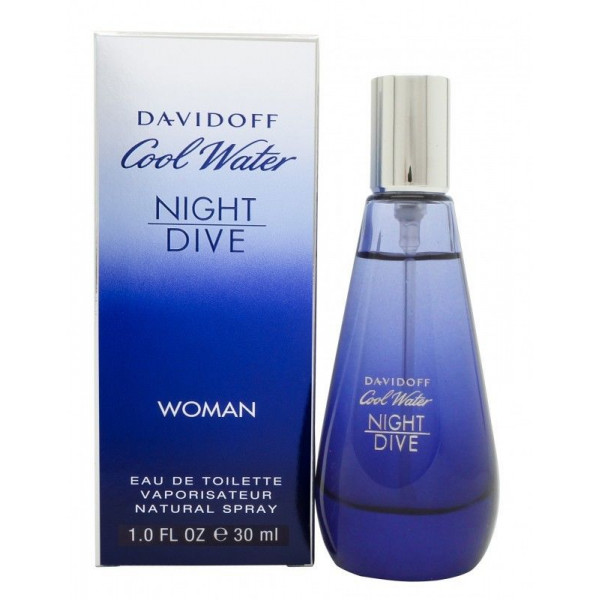 Davidoff - Cool Water Woman Night Dive : Eau de Toilette Spray 1 Oz / 30 ml
