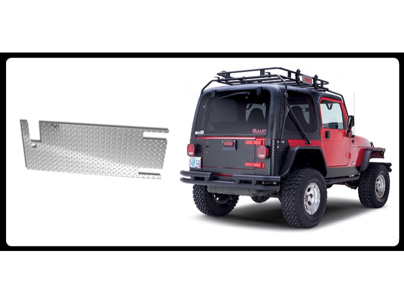 Warrior Products 918D Tailgate Covers Aluminum Diamond Plate Finish Jeep LJ Unlimited 04-06