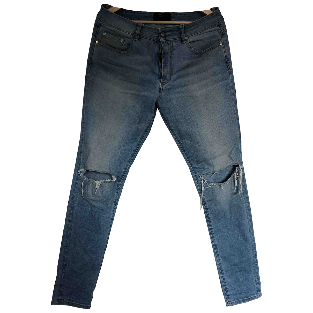 Represent \N Blue Cotton - elasthane Jeans for Men 32 US
