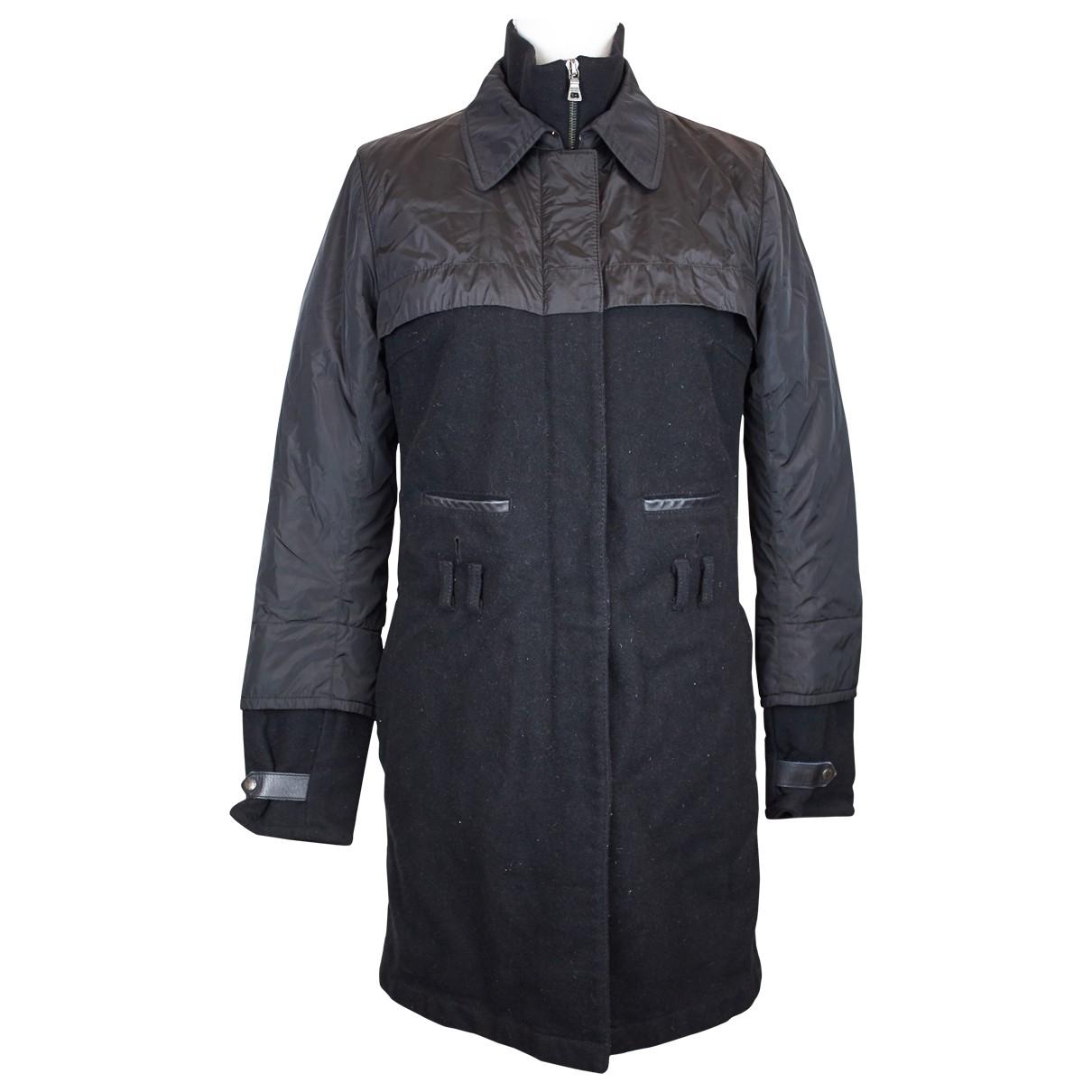 Prada \N Black Wool coat for Women 42 IT