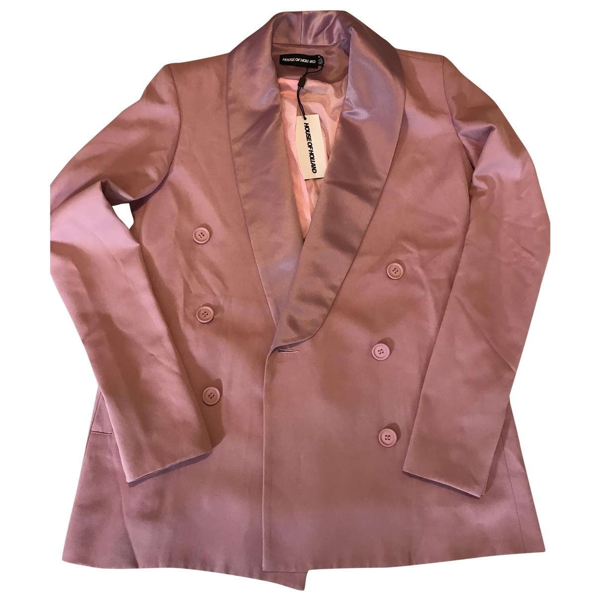 House Of Holland \N Pink Silk jacket for Women 6 UK