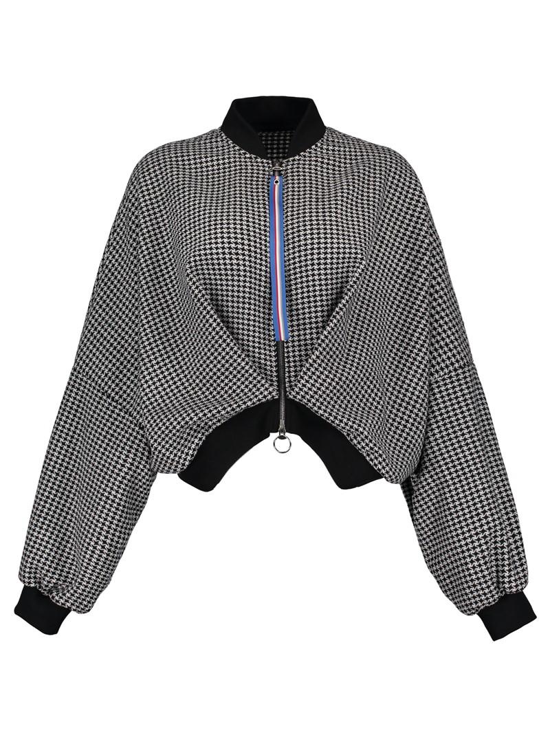 Ericdress Stand Collar Batwing Sleeve Short Women's Jacket