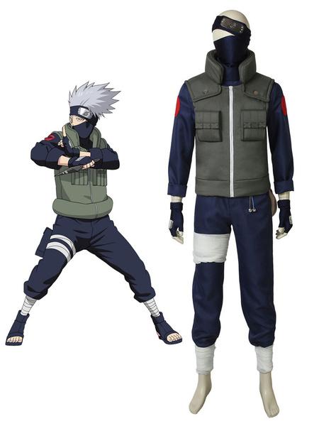Milanoo Naruto Hatake Kakashi Halloween Cosplay Costume Full Set