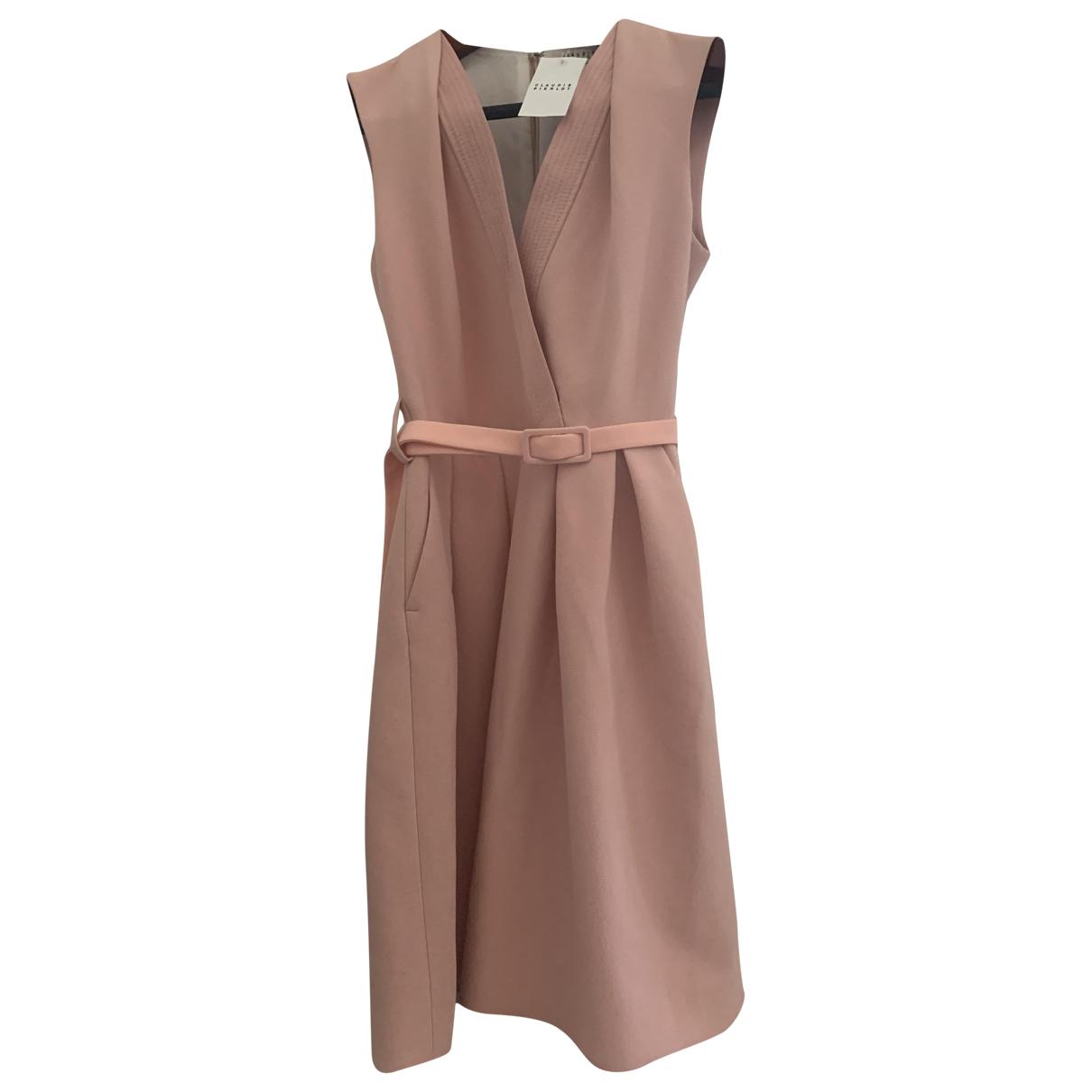 Claudie Pierlot Spring Summer 2020 Pink Cotton - elasthane dress for Women 36 FR