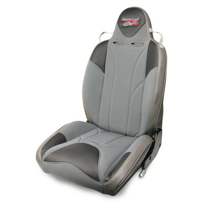 MasterCraft Safety Baja RS Fixed Headrest, DirtSport, Smoke Gray Center & Gray Side Panels, Recliner Lever Left Gray - 504127