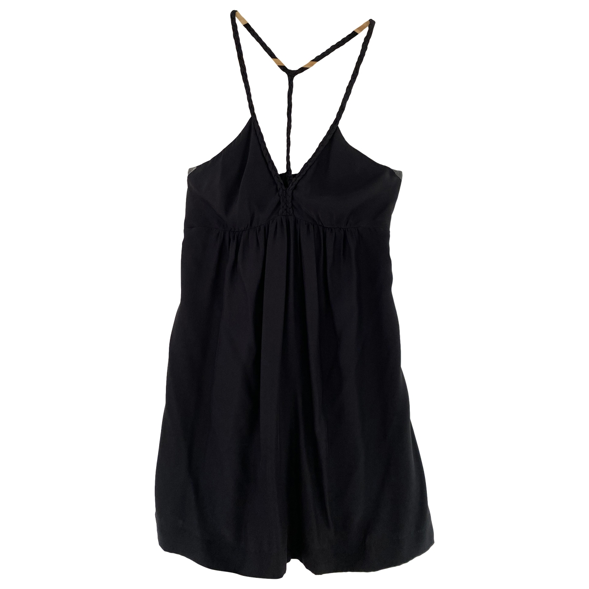 Sandro \N Black Silk dress for Women 36 FR