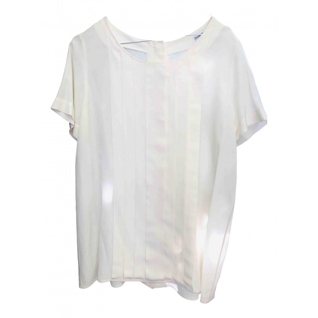 Chanel \N Beige Silk  top for Women 46 IT