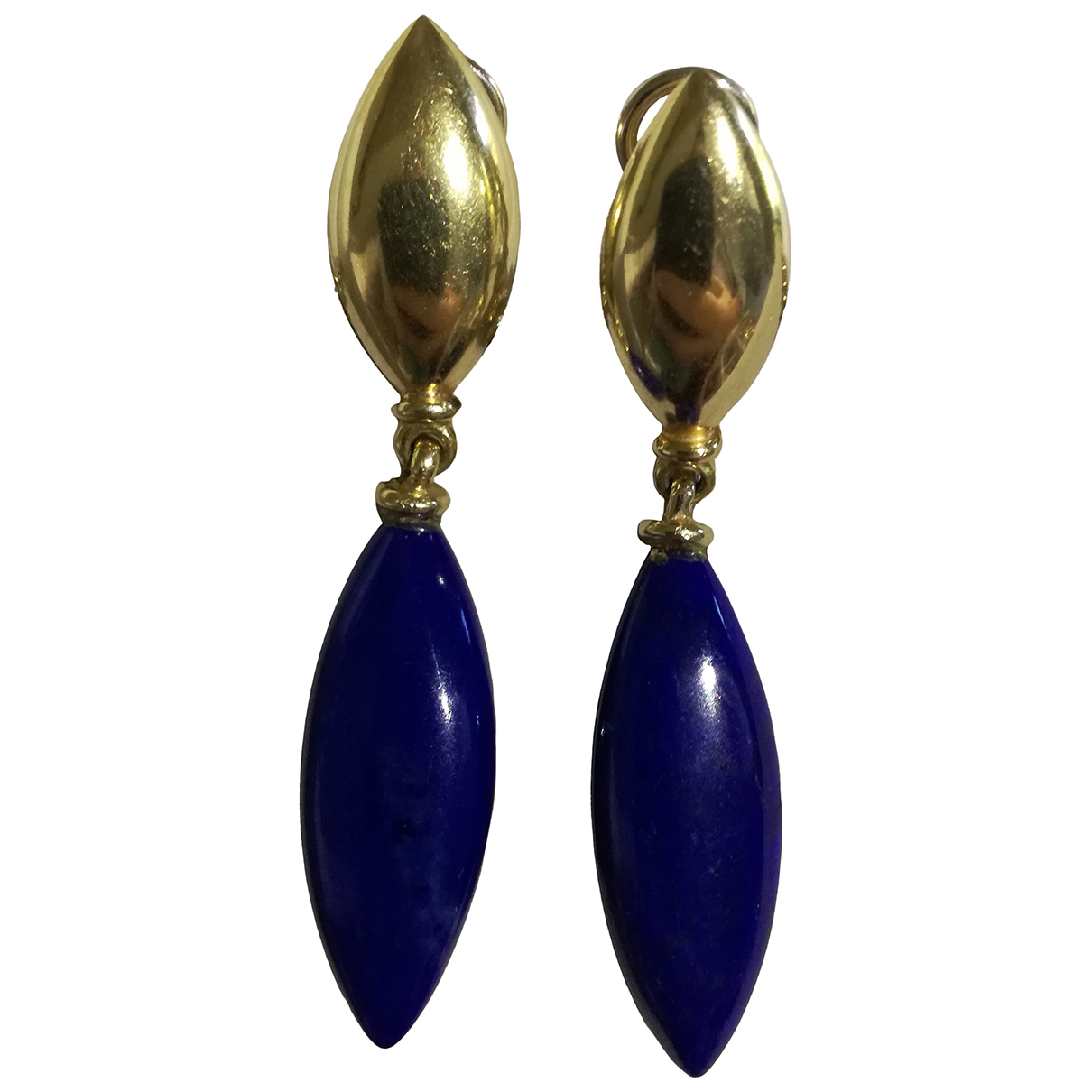 Non Signé / Unsigned Lapis lazuli Gold Yellow gold Earrings for Women \N