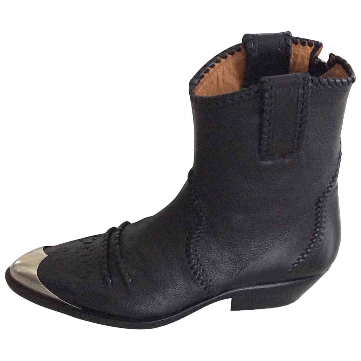 Isabel Marant \N Black Leather Ankle boots for Women 39 EU