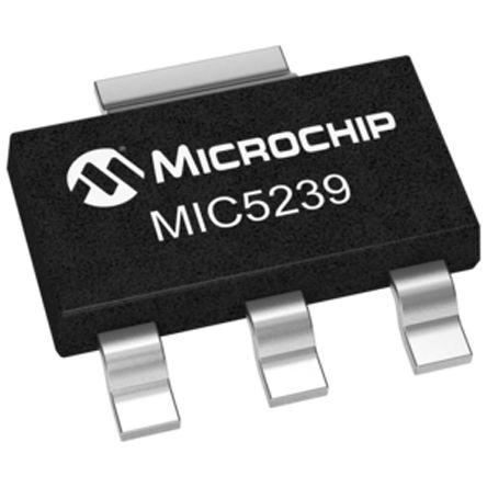 Microchip MIC5239-1.8YS, LDO Regulator, 500mA, 1.8 V, ±2% 3+Tab-Pin, SOT-223 (5)