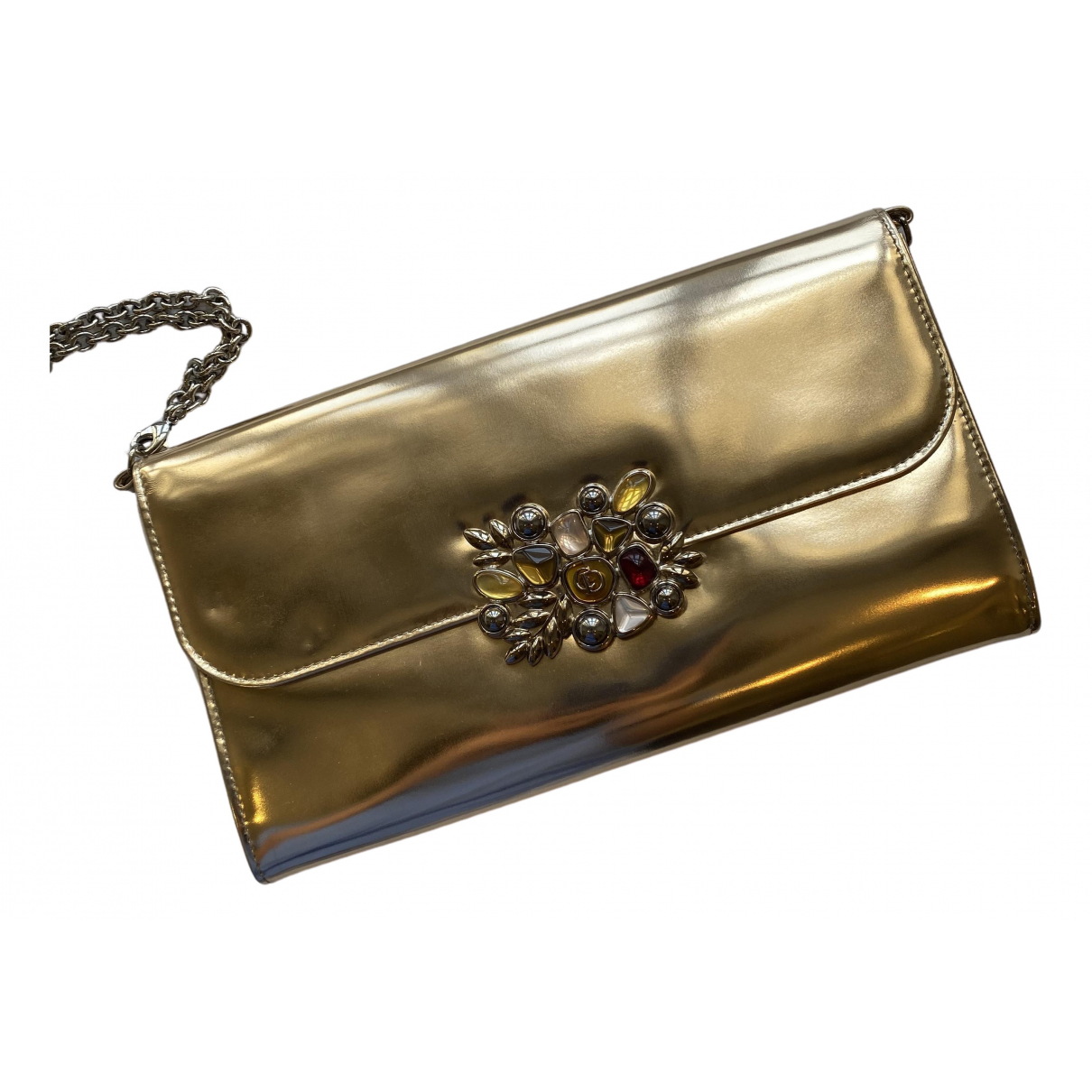 Dior \N Gold Leather Clutch bag for Women \N
