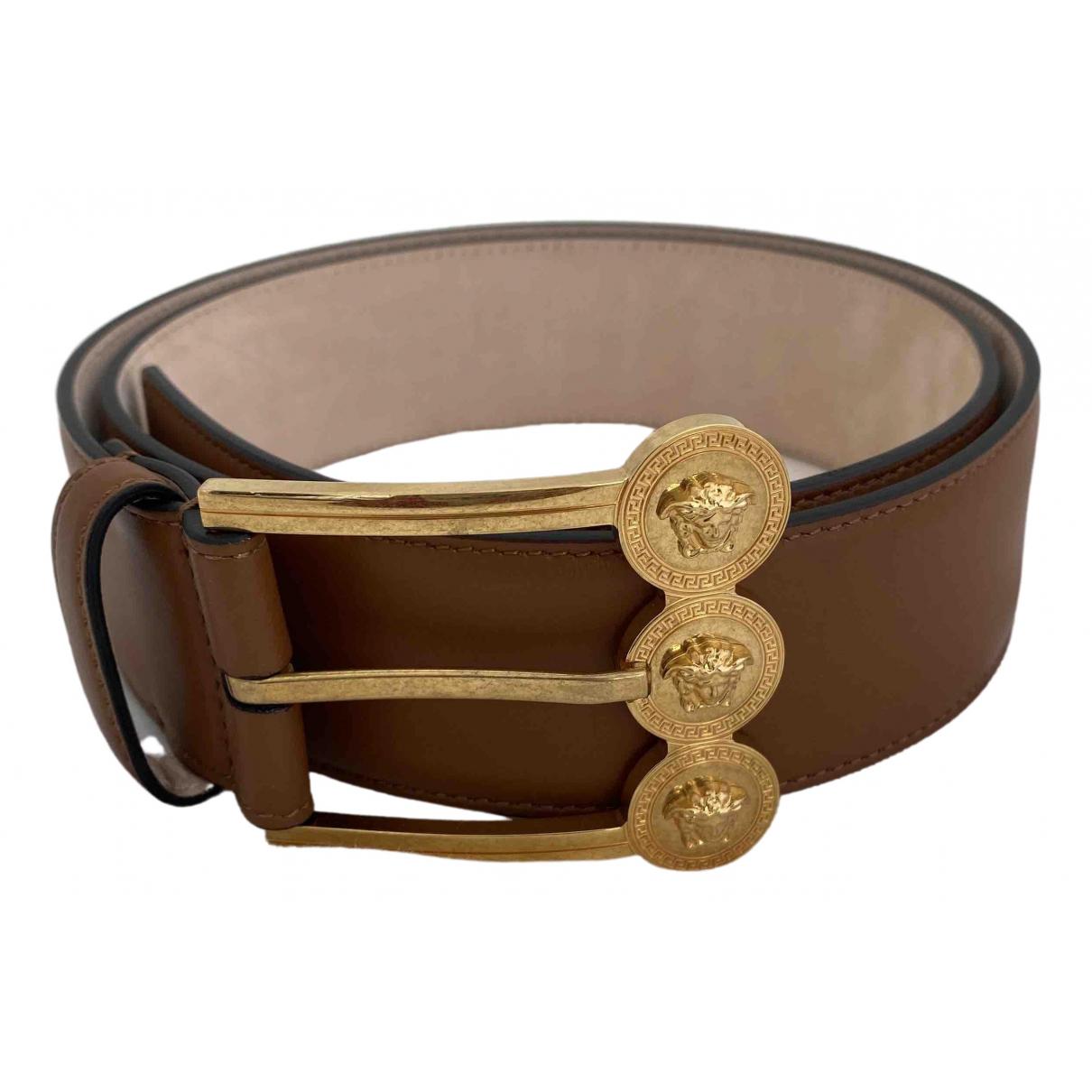 Versace \N Brown Leather belt for Women 85 cm