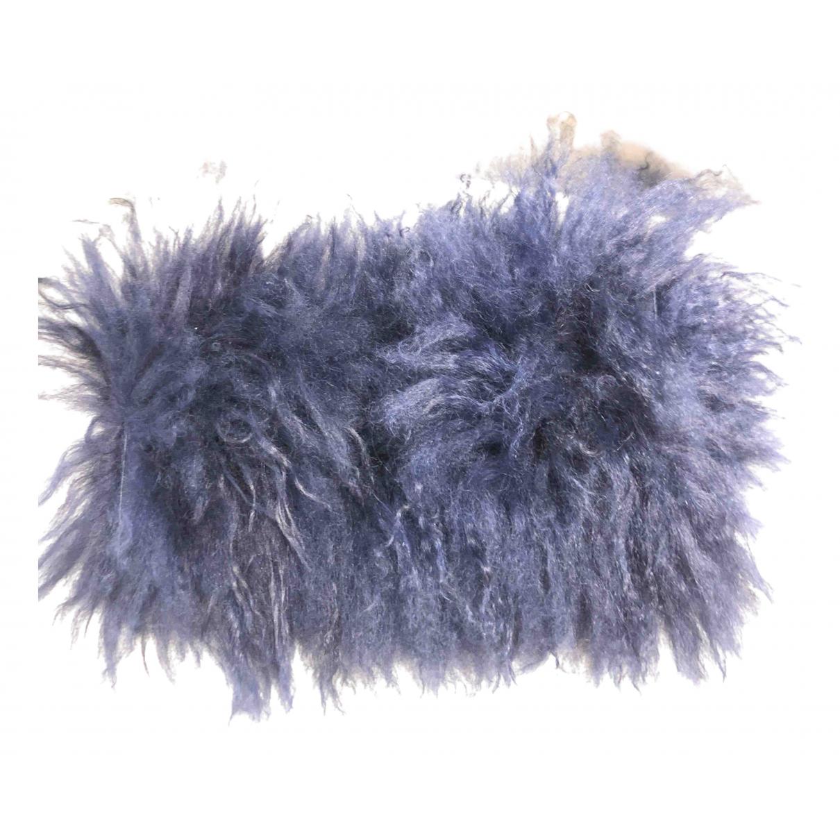 Pinko \N Blue Mongolian Lamb scarf for Women \N