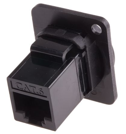 RS PRO XLR Panel Mount XLR Connector, Female, Black