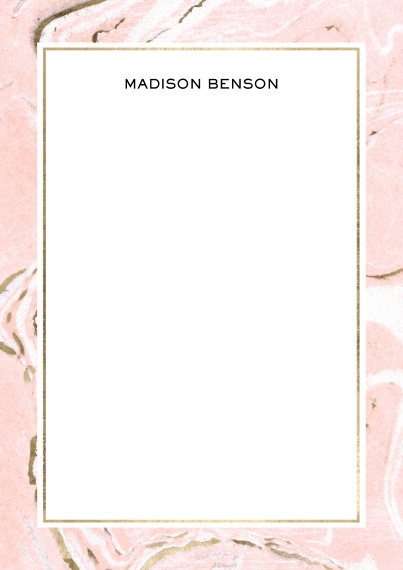 For Her 5x7 Personal Stationery, Card & Stationery -Marble