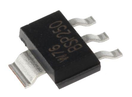 Nexperia P-Channel MOSFET, 3 A, 30 V, 4-Pin SOT-223 (SC-73)  BSP250,115 (5)