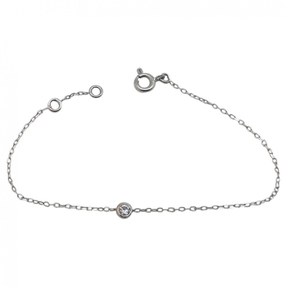 Non Signé / Unsigned Gourmette White White gold bracelet for Women \N