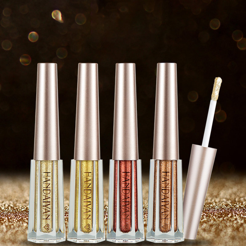 Liquid Eyeshadow Diamond Single Color Shimmer Eyeshadow Glitter Lasting Eye Shadow Beauty