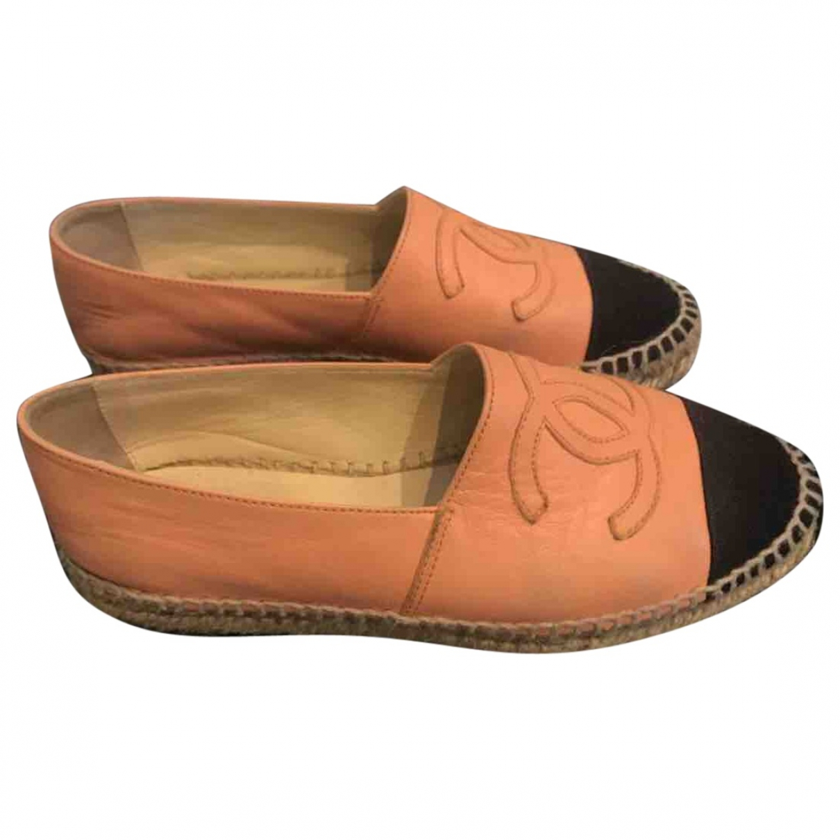 Chanel \N Pink Leather Espadrilles for Women 36 EU