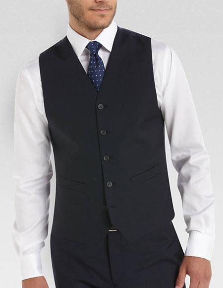 Mens Any Color Matching Vest & Pants Set Plus Any Color Shirt