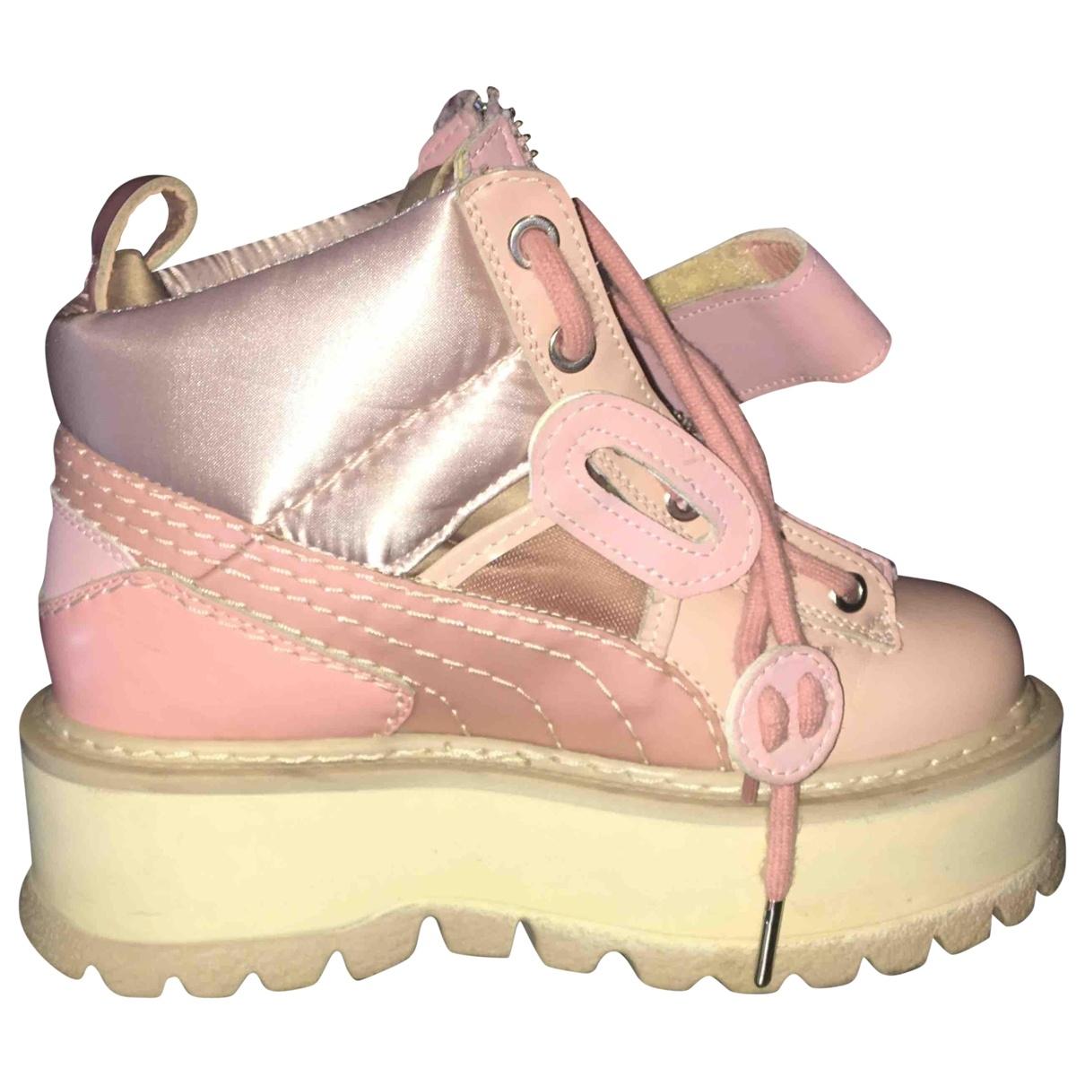 Fenty X Puma \N Pink Leather Trainers for Women 35.5 EU