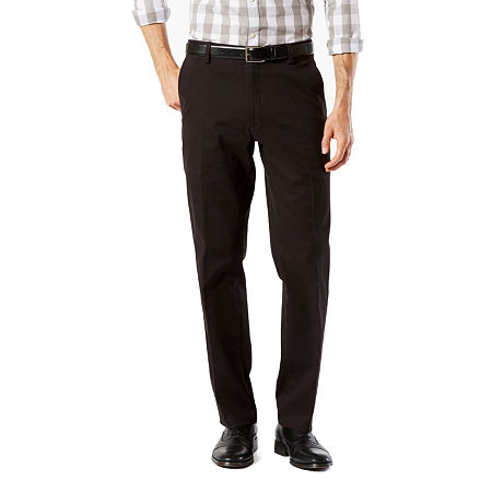 Dockers Men's Straight Fit Easy Khaki with Stretch Pants D2, 38 32, Black