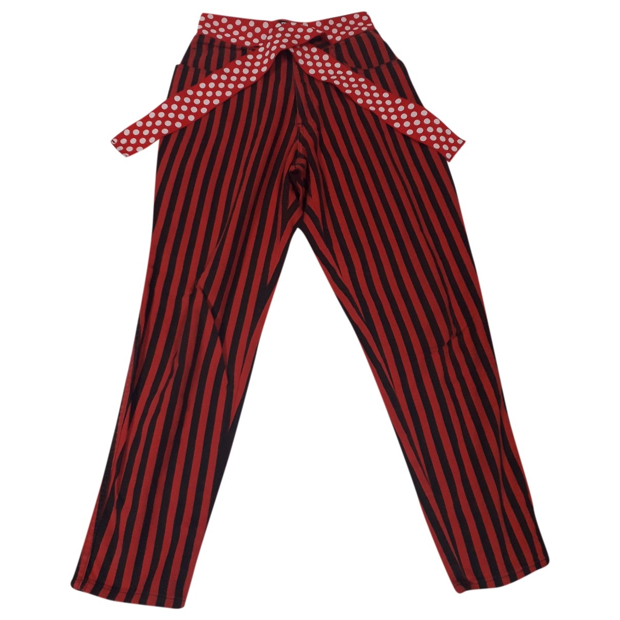 Moschino Cheap And Chic \N Red Denim - Jeans Trousers for Women 42 IT