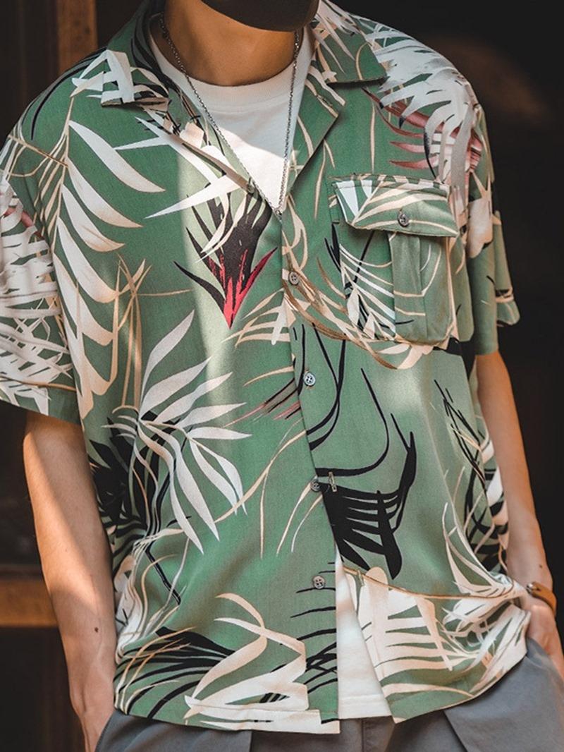 Ericdress Pocket Lapel Single-Breasted African Fashion Dashiki Loose Shirt