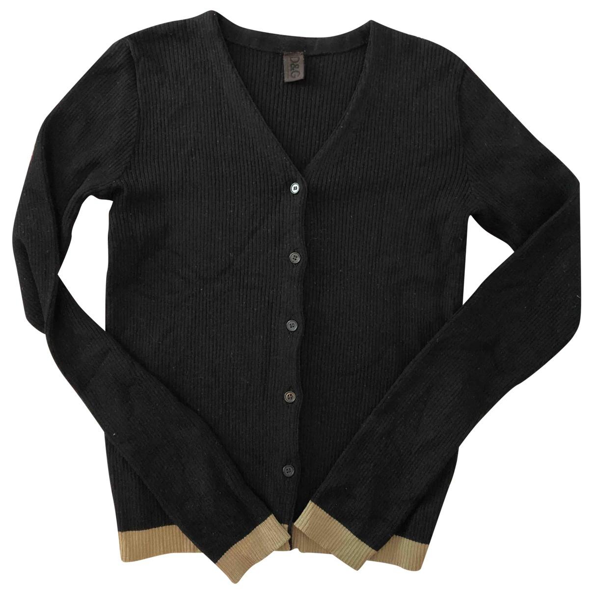 D&g \N Black Wool Knitwear for Women 44 IT