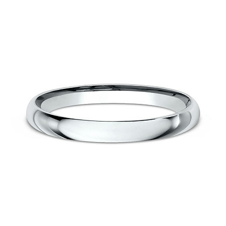 Womens 14K White Gold 2MM Light Comfort-Fit Wedding Band, 6 , No Color Family