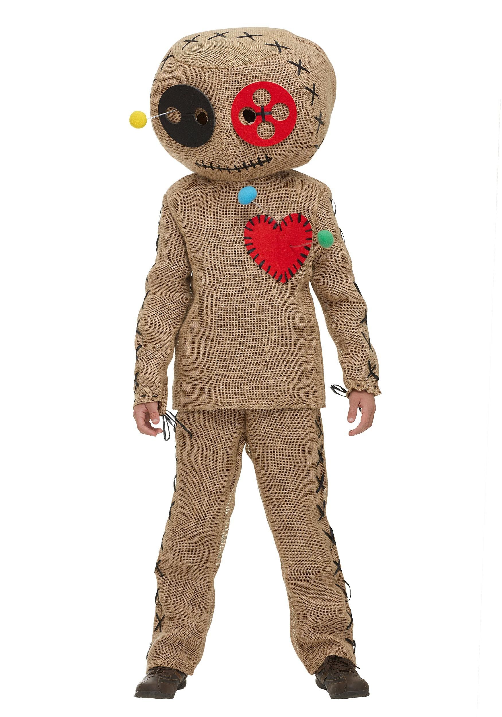 Burlap Voodoo Doll Costume for Kids