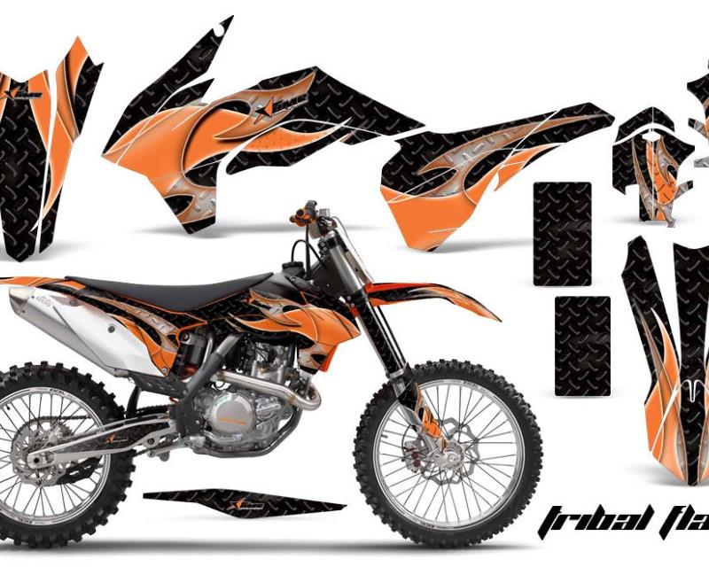 AMR Racing Graphics MX-KTM-C9-13-16-TF O K Kit Decal Wrap For KTM SX/SXF/XCF/EXC/TC-F/XC/XCF-W 2013-2016áTRIBAL ORANGE BLACK