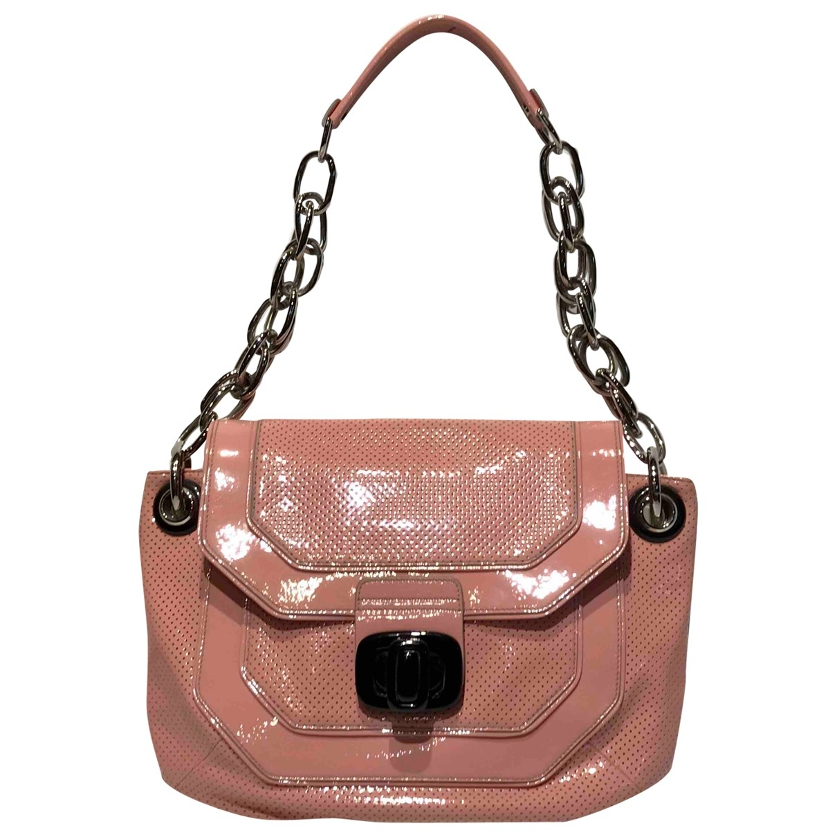 Lanvin \N Pink Patent leather handbag for Women \N