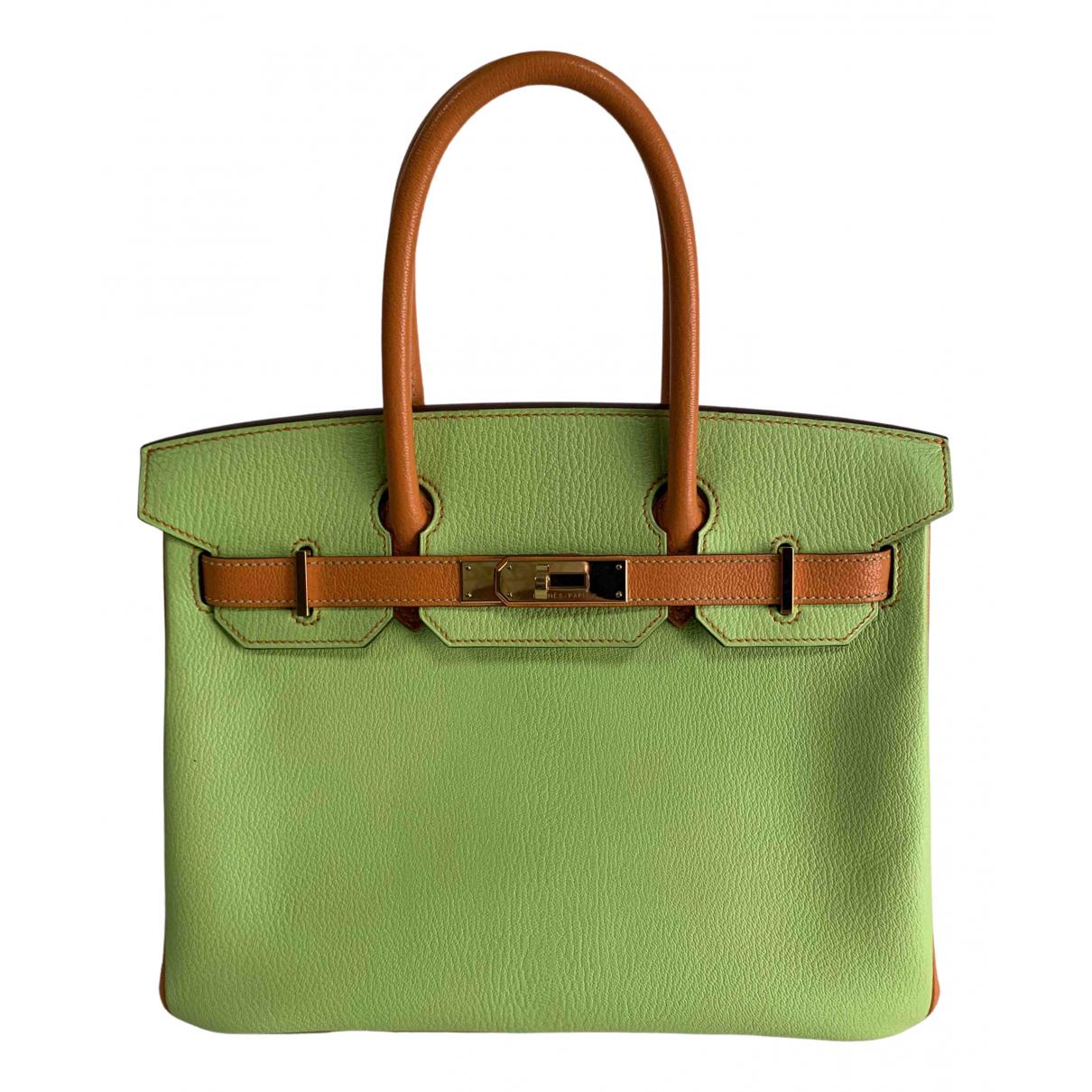 Hermès Birkin 30 Green Leather handbag for Women \N