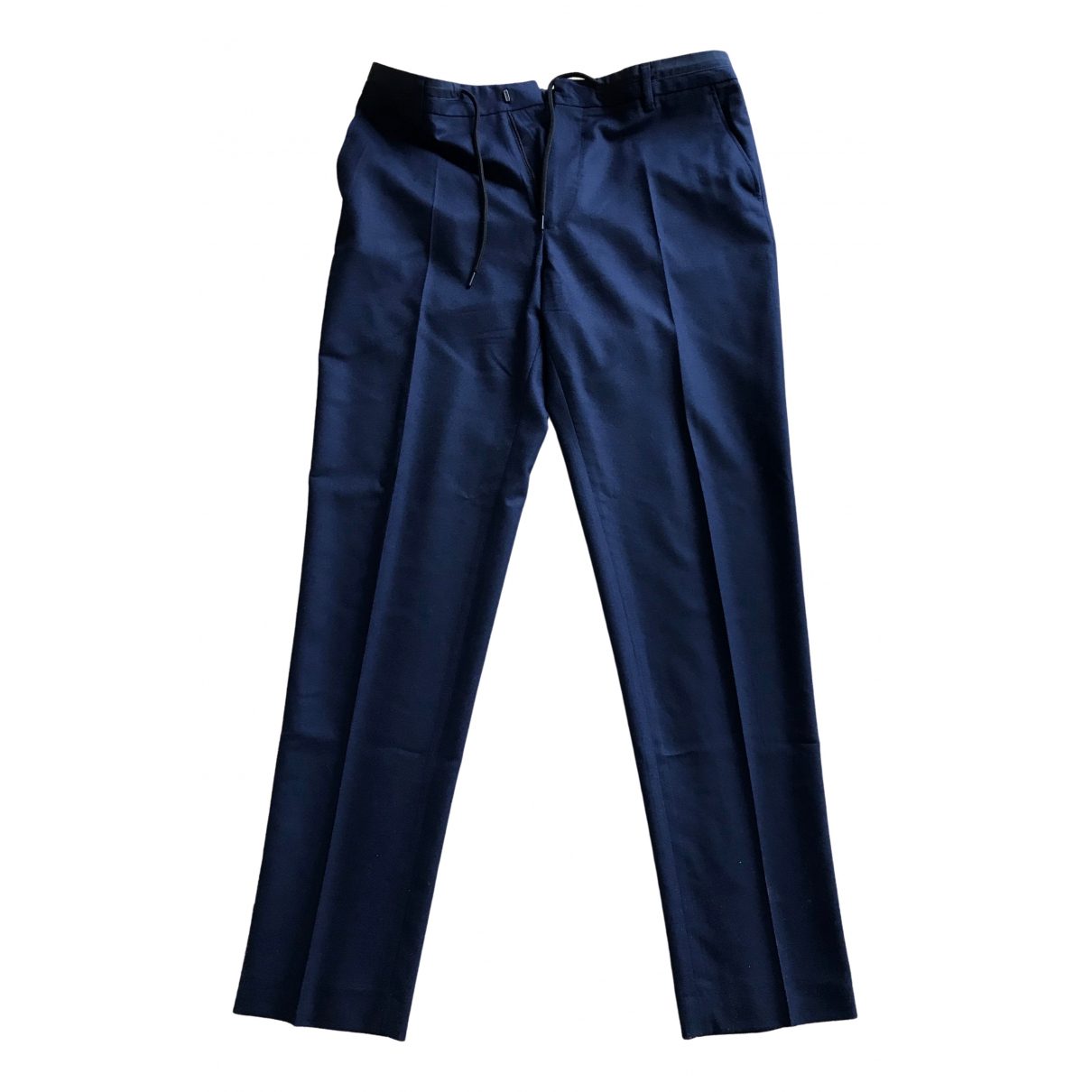 Kenzo \N Blue Wool Trousers for Men 42 FR