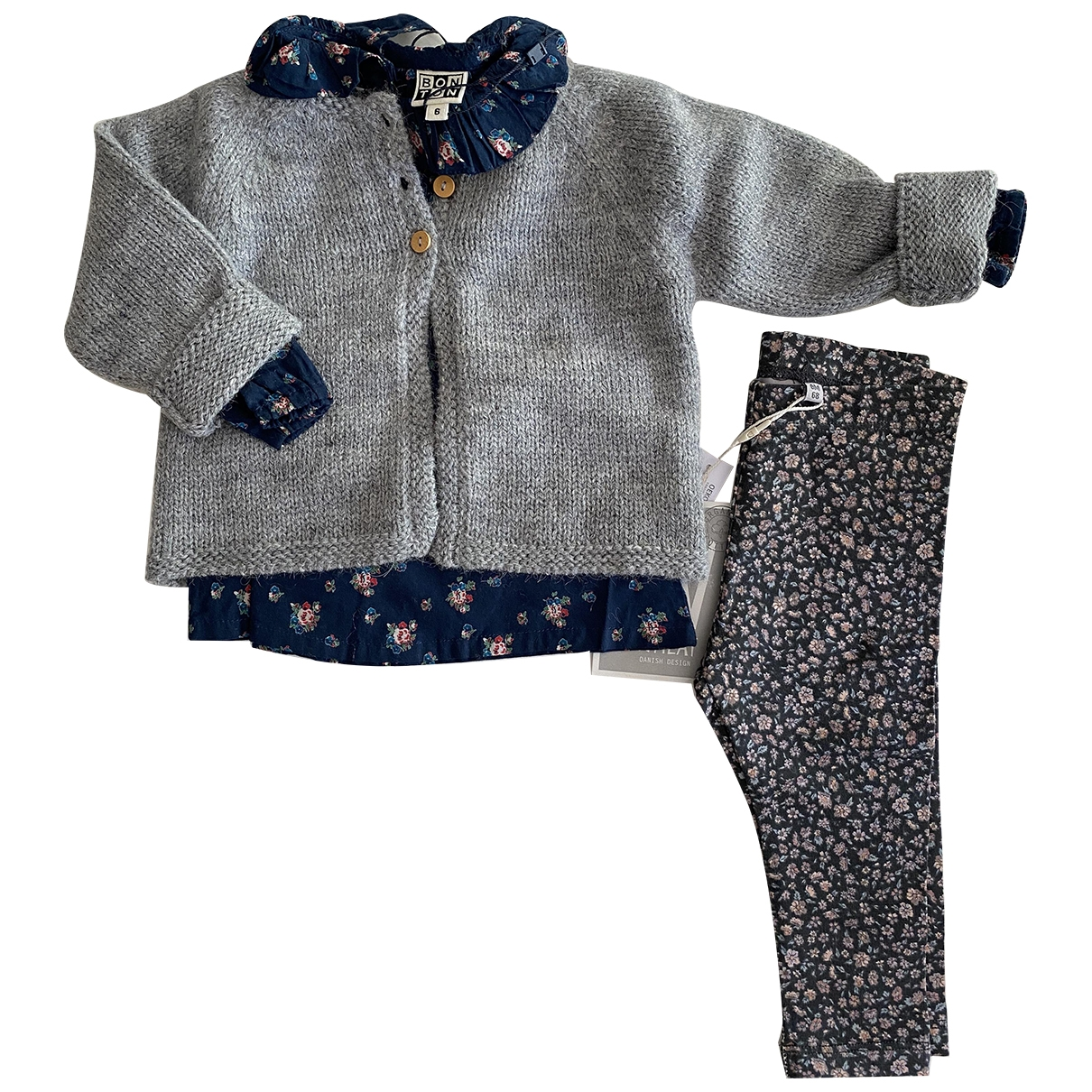 Bonton \N Grey Cotton Outfits for Kids 6 months - up to 67cm FR