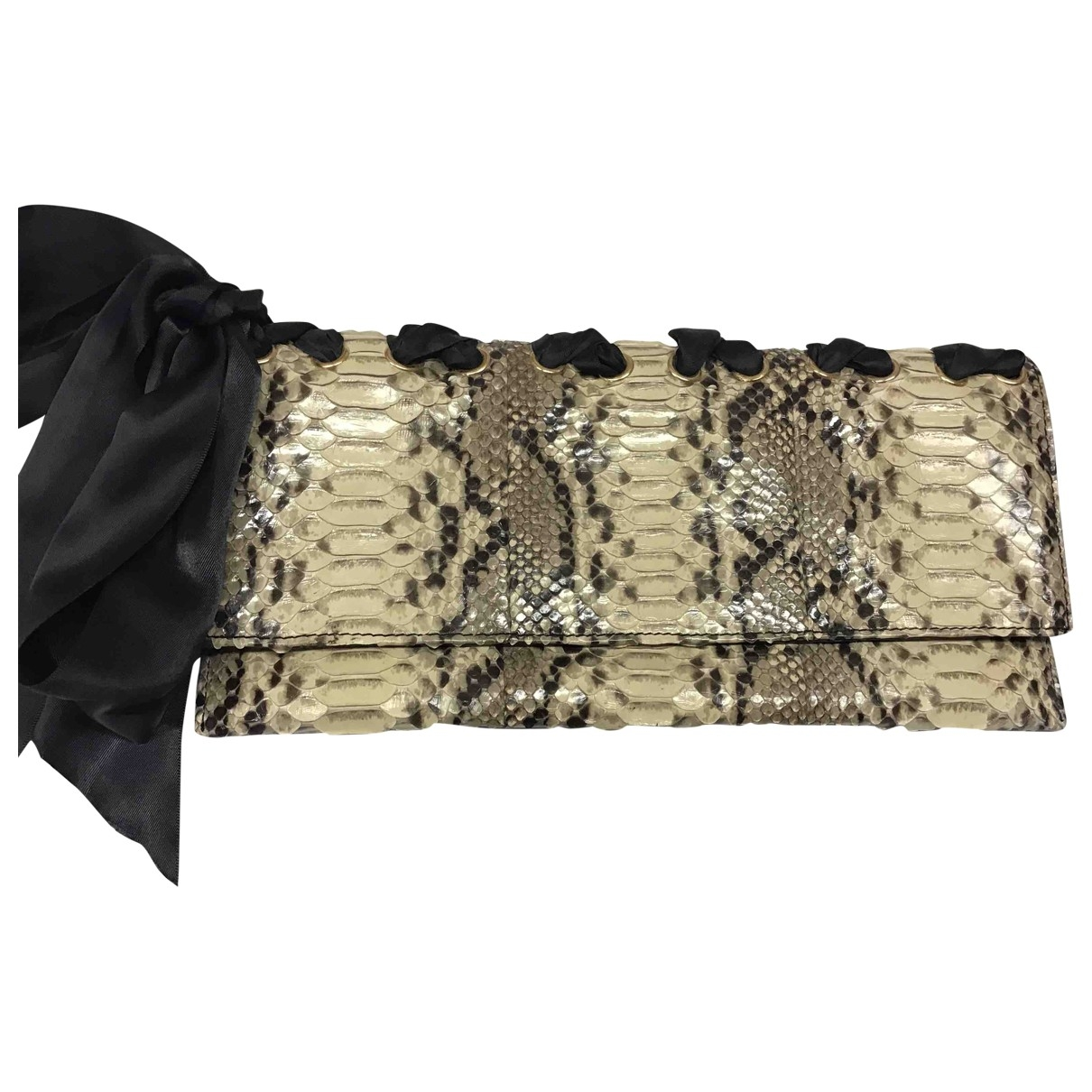 Non Sign?? / Unsigned \N Multicolour Python Clutch bag for Women \N