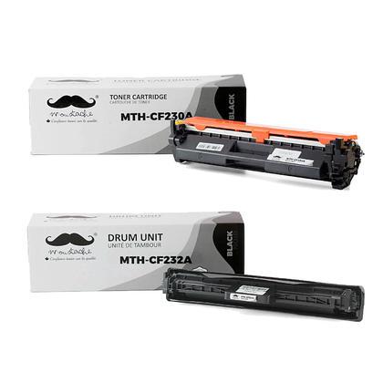 Compatible HP CF230A CF232A cartouche de toner et tambour compatible combo - avec puce - Moustache®