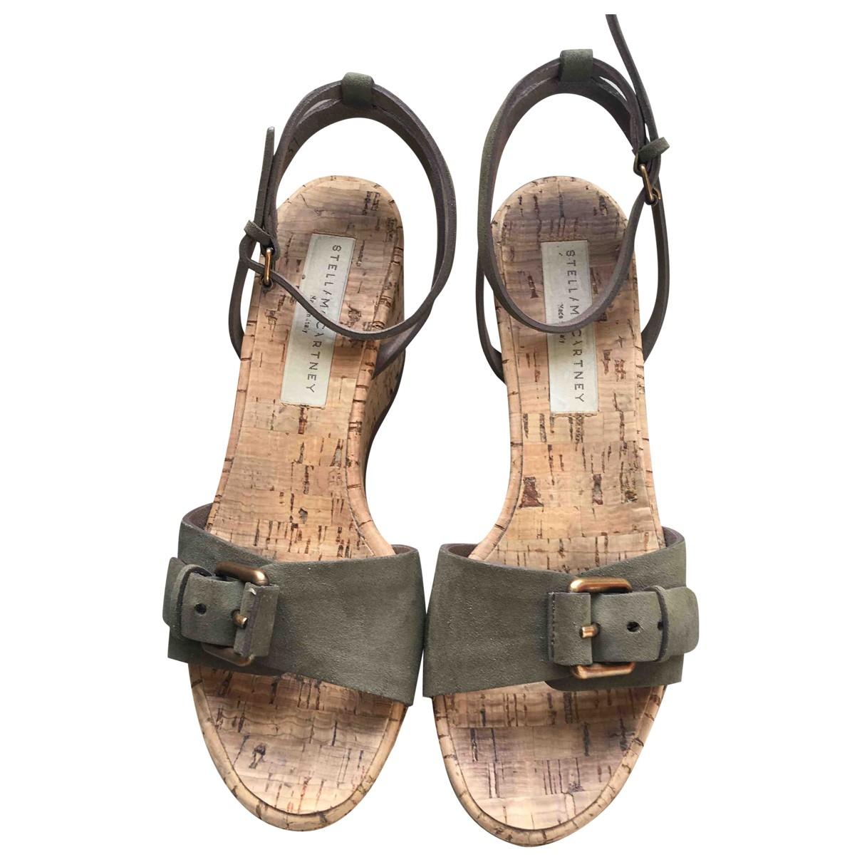 Stella Mccartney \N Khaki Sandals for Women 37 EU