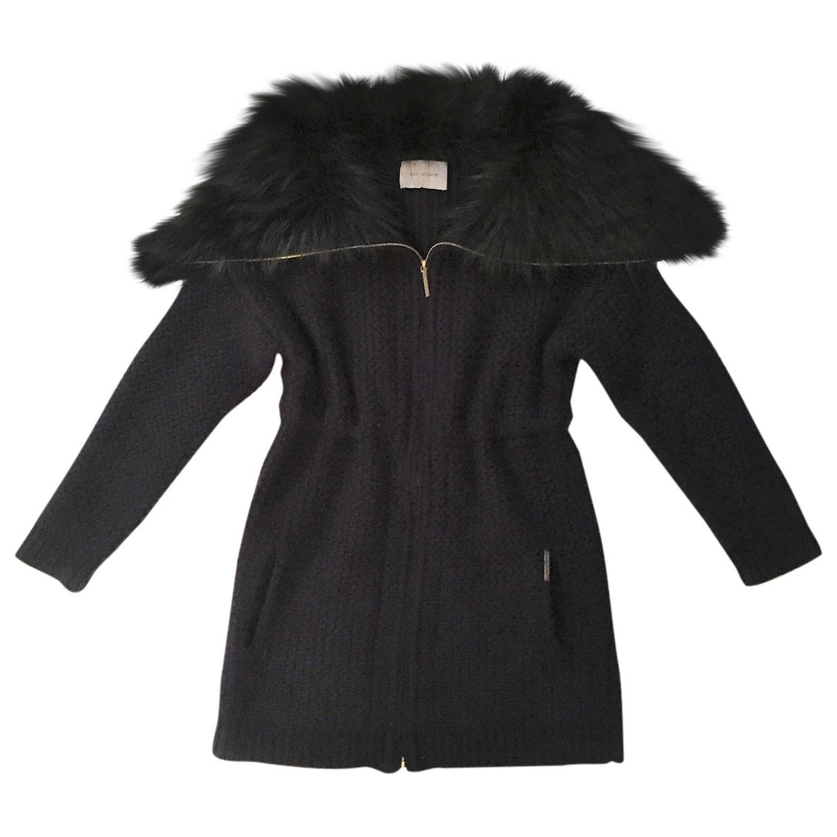 Yves Salomon \N Navy Fur coat for Women 38 FR
