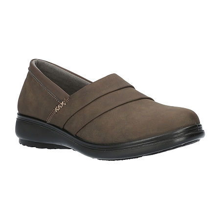 Easy Street Womens Maybell Slip-On Shoe, 9 Extra Wide, Gray
