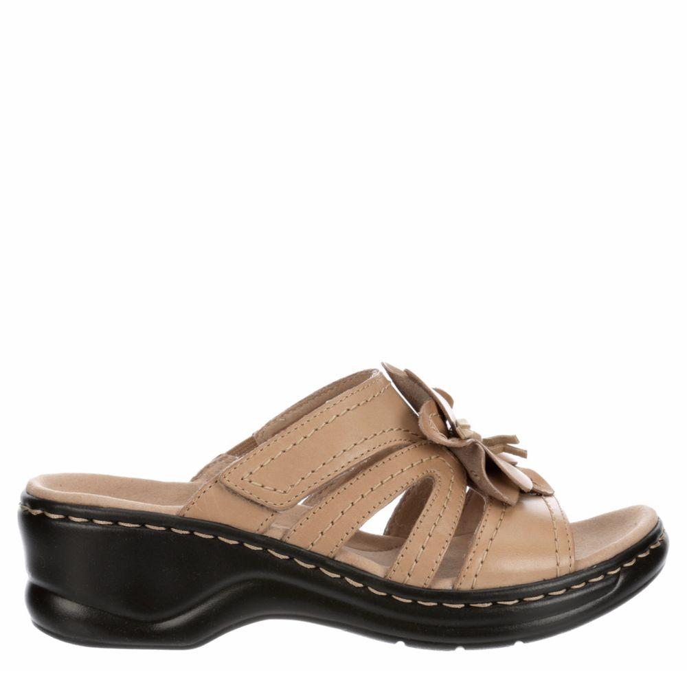 Clarks Womens Lexi Opal Wedge Slide Sandal