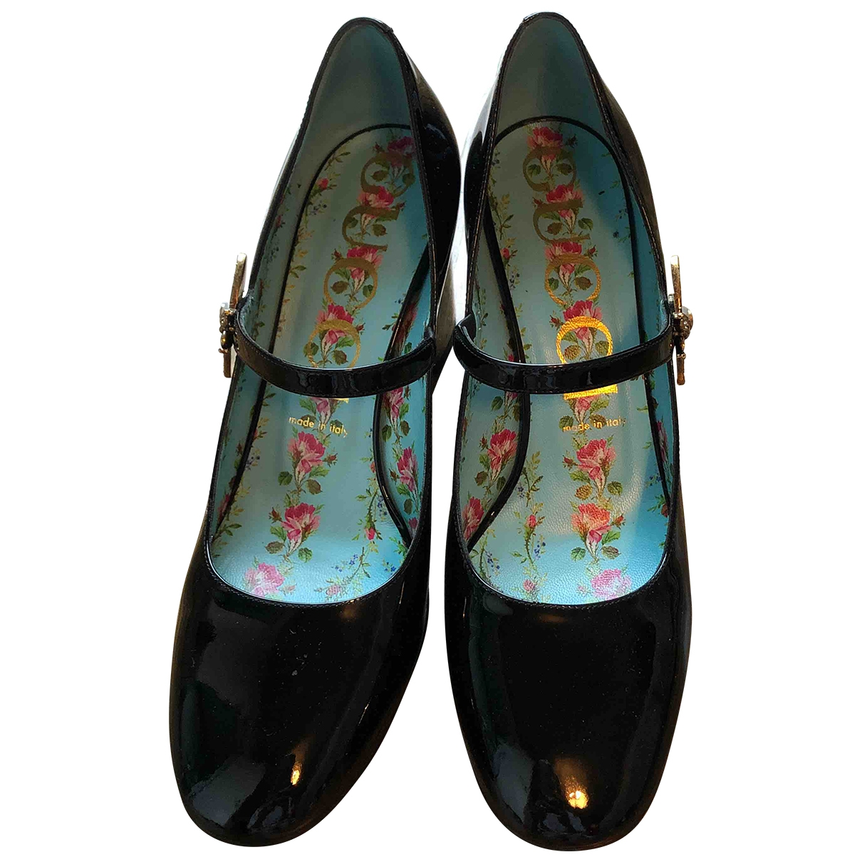 Gucci \N Black Patent leather Heels for Women 40 EU